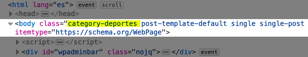 Agregar clase CSS