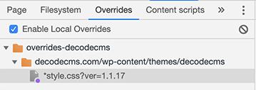 Archivo CSS almacenado localmente