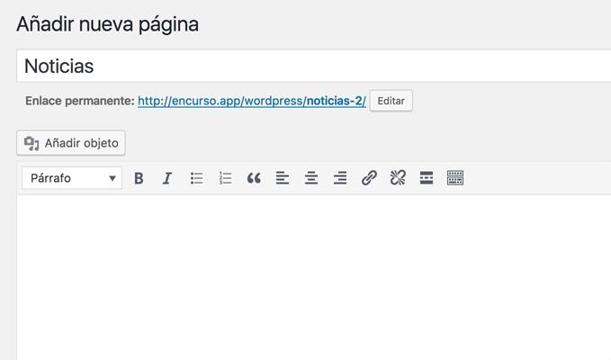 Página de inicio y Página de entradas en WordPress - DecodeCMS