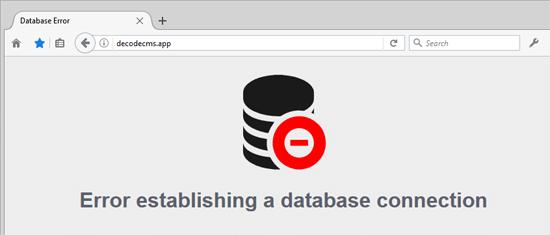 Error de base de datos personalización