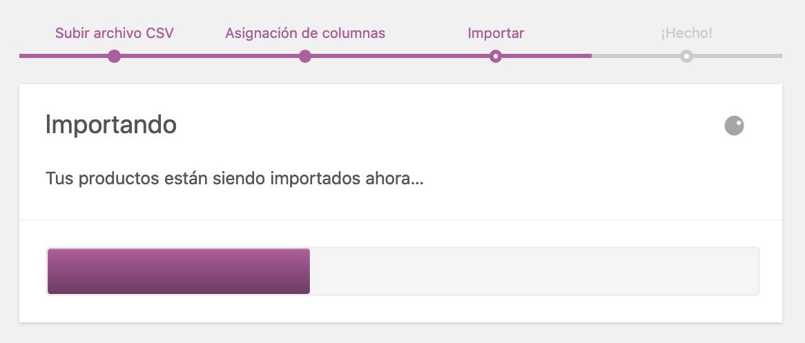 Paso 3 importación