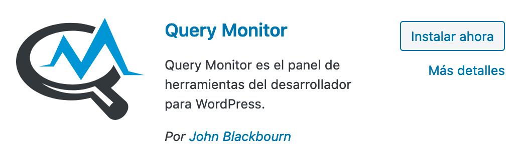Instalación Query Monitor