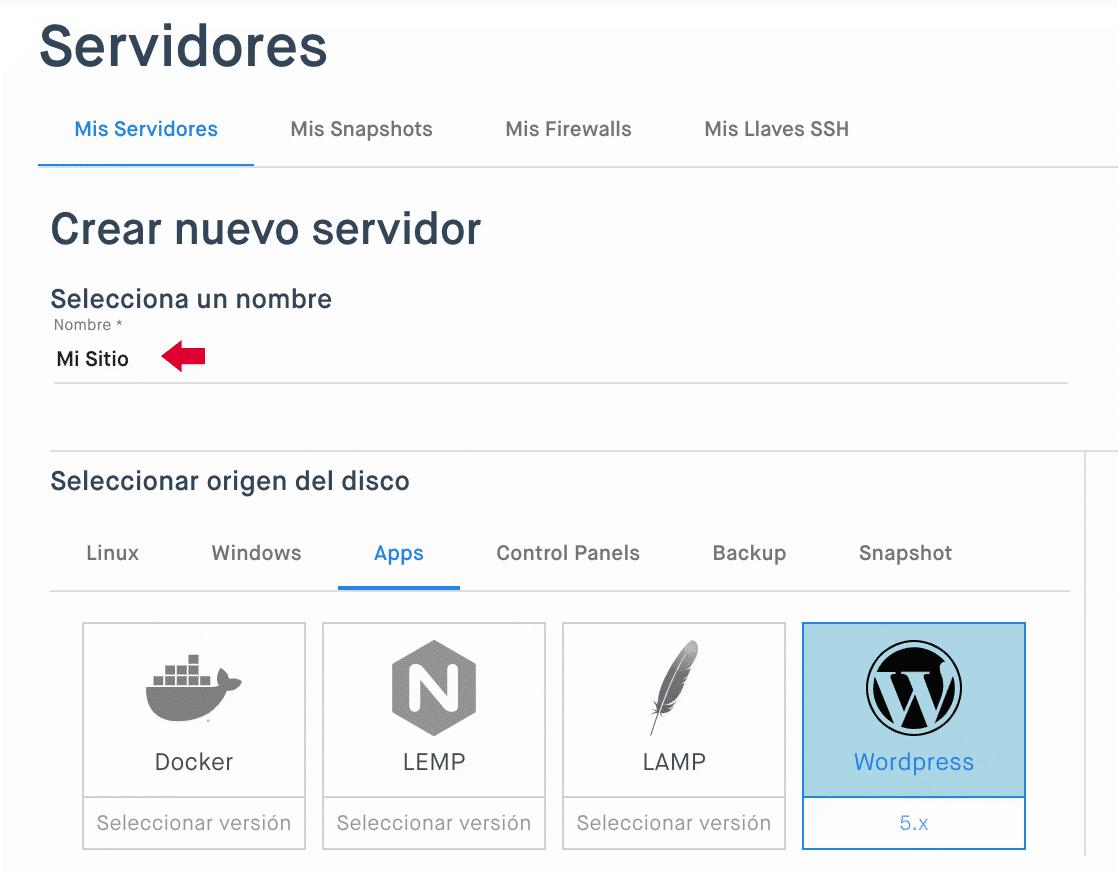 Nuevo servidor