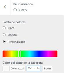 Personalizar Colores