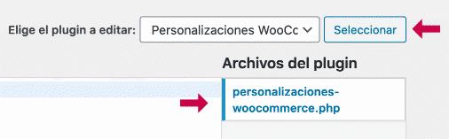 Editar archivo plugin