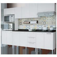 Cozinha Compacta 11 Portas 3 Gavetas Bianca 0430t Branco - Genialflex