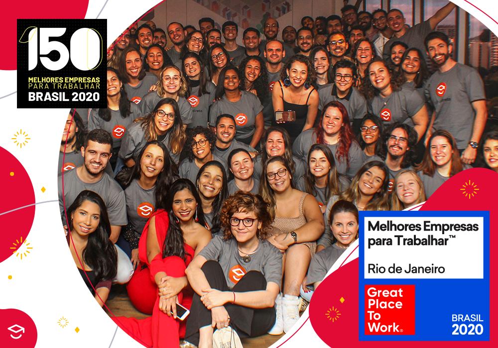 Passei Direto: no prêmio Great Place To Work, entre as Top 5 do Rio de Janeiro