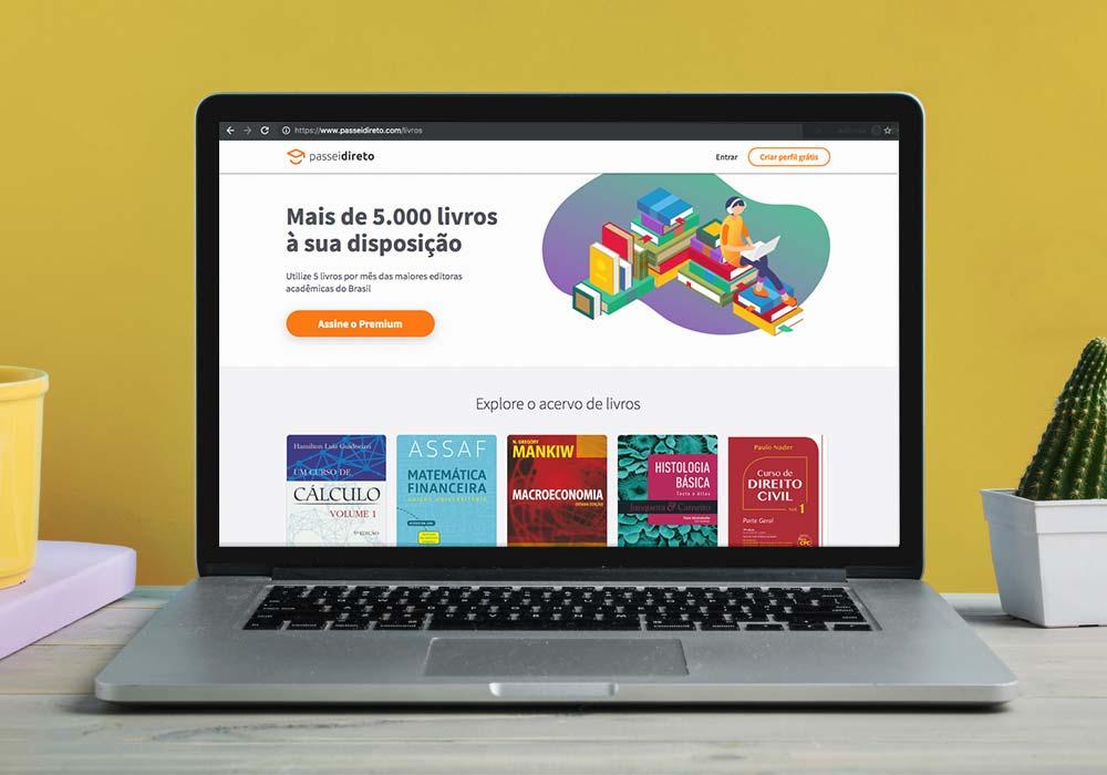 Como usar biblioteca online