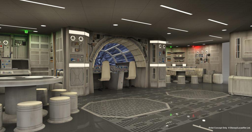 Espacio Star Wars en el barco Disney Dream