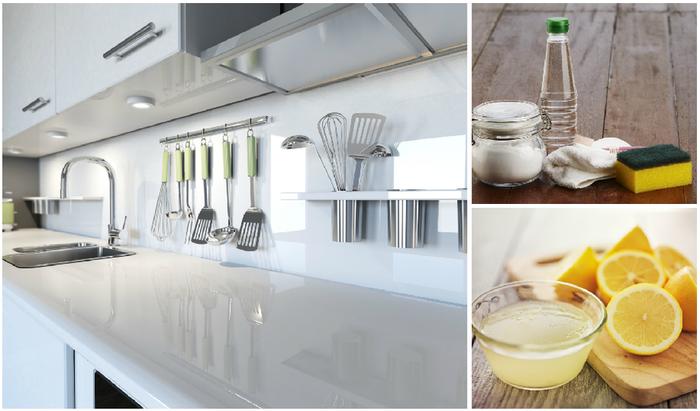 limpiar la cocina con limon