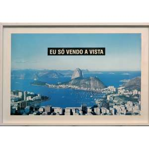 MARCOS CHAVES - Fotografia Eu só vendo a vista. Tamanho: 60 x 90 cm. Ed. 461/500. Ano: 1998. Ass. e datado canto inf. dir. Com moldura.