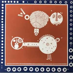 NIOBE XANDÓ - Litografia rara em duas cores, de 1975. Tamanho: 58 x 59 cm. Edição limitada: 14/20.Ass. e datado inf. dir Sem moldura.