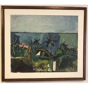 JOSÉ CLÁUDIO - Óleo sobre eucatex. Ano: 1972. 50 x 60 cm. Com moldura. Esta obra encontra-se em Recife.