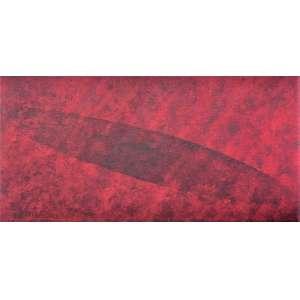 TOMIE OHTAKE - Óleo sobre tela. Ano: 1991. Tamanho: 30 x 60 cm. Registrada no Instituto Tomie Ohtake sob o código: P91-030. Ass. inf. direito e no verso.