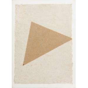 MIRA SCHENDEL - Colagem de papel artesanal e folha de ouro. Ano: 1980. Tamanho: 40 x 29 cm. Ass. Inf. Dir. <br />