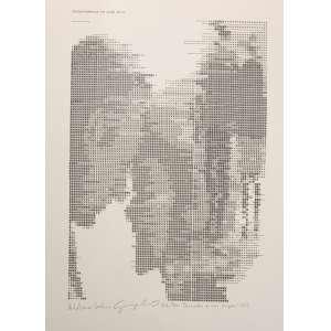 WALDEMAR CORDEIRO - Derivadas de uma imagem - Transformação em grau Zero, realizada juntamente com o físico Giorgio Moscati é considerada uma das primeiras obras de arte geradas por computador feitas no Brasil (1968) e esta impressão em offset de 1969 é assinada a lápis por ambos. Tamanho: 61 x 44,5cm. Ed. 26/300.<br /><br />Protagonista das nossas vanguardas, Waldemar Cordeiro foi um dos principais teóricos e praticantes de arte concreta brasileira. Em 1968 foi um dos primeiros dos nossos artistas a usar um computador - um IBM 360/44 do Departamento de Física da USP - para criar imagens. <br />Obra presente em museus nacionais, como o Mac de Sao Paulo e Victoria and Albert em Londres.