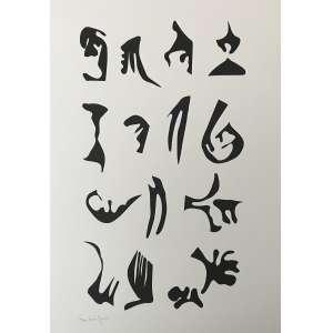 LEÓN FERRARI - Serigrafia. Ed. 44/100. Tamanho: 70 x 50 cm. Ass. inf. dir. Sem moldura.