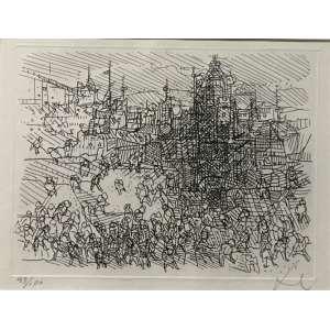 DAREL - Gravuram em metal. Edição Julio Pacello. Exemplar 43. de 100 exemplares. Ano: 1968. MI: 10 x 15 cm. Medida com moldura: 31 x 34,5 cm. ass. inf. dir.