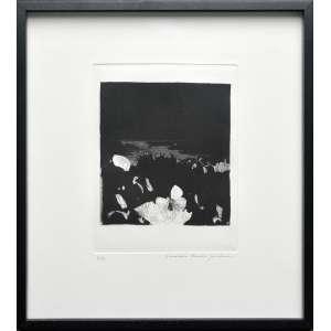 EVANDRO CARLOS JARDIM - Gravura em metal, 2015. Do álbum 25+1, comemorativo dos 25 anos do Memorial da America Latina. Ed. 3/75. Tamanho: 39,5 x 35,5 cm. Ass. datado inf. dir. com moldura.