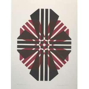 ODETTO GUERSONI - Serigrafia, Mandala 1976. H.C. Tamanho: 48 x 35 cm. Ass. datada canto inf dir. Sem moldura.