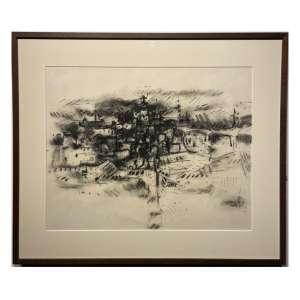 DAREL Valença Lins - Mista sobre papel. Ano: 1964. 46,5 x 56,5 cm. Ass. inf. dir. Com moldura e passe-partout.