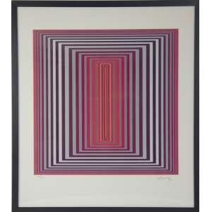 VICTOR VASARELY - Serigrafia, 1988, da série DIAM. Edição: 248/250 - MI: 69,5 x 62 cm. ME: 73 x 64 cm. Ass. inf. dir. Com moldura.