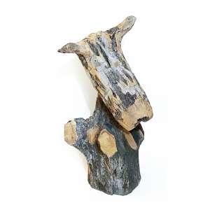 ZÉ BEZERRA - Escultura em madeira. Dimensões: 72 x 40 x 45 cm. Assinada.