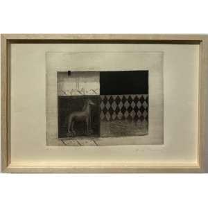 ALEX CERVENY - Gravura em metal. Tiragem Prova de Artista. Dimensões 27 x39 cm. Ass. inf. dir. Com moldura.