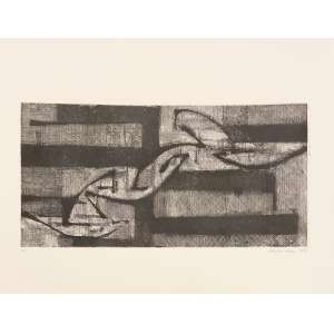 ROSINI PEREZ - Gravura em metal. Tiragem: P.A. Ano: 1959. ME: 50 x 65 cm. MI: 28 x 55 cm. Sem moldura.