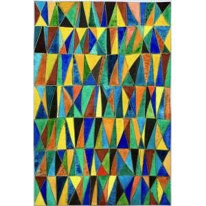 ANDREA MENDES - Aquarela sobre papel algodão com textura, Série Vitrais. ano: 2020. Tamanho 30 x 20 cm, Assinada e datada no verso, sem moldura. Montado em Passe-Partout com costura japonesa.