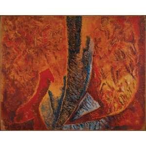 ESTEBAN GRANERO, Sem Título - Óleo sobre tela - 80x100 cm - ACIE 1983 ( Com selo da Galeria Tema Arte Contemporânea )