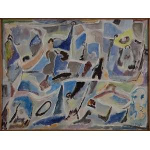 MAZZILLI, Sem Título - Óleo sobre tela - 60x80 cm - ACID ( Com selo da Galeria Tema Arte Contemporânea )