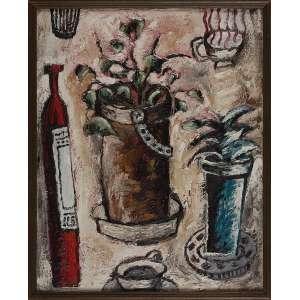 ALEXANDRE MARTINS FONTES, New York - Óleo sobre tela - 70x56 cm - Assinado no Verso 1987 ( Com selo da Galeria Tema Arte Contemporânea )