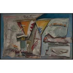 SIEGBERT FRANKLIN, Lúdica Paisagem II - Acrílica sobre tela - 90x140 cm - Assinado no Verso 1986 ( Com Selo do Artista e da Galeria Tema Arte Contemporânea )