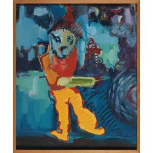 ROBERTO GONÇALVES, Sem Título - Óleo sobre tela - 60x50 cm - ACID 1985 ( Com selo da Galeria Tema Arte Contemporânea )