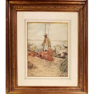 916305f5d RAIMUNDO CELA - Pintor italiano catalogado no Benezit - Prêmio de viagem  pelo Salão Nacional de