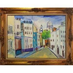 EMILE TUCHBAND, Paris Monte Martru - óleo sobre eucatex - 60x80 cm - ACID 1976 (Coleção do Professor e Dr. Luiz Fernando da Costa e Silva) <br />