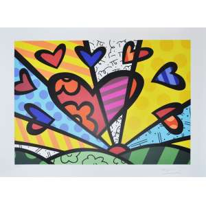 ROMERO BRITTO, A new day - Gravura numerada - 50 x 70 cm - ACID