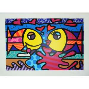 ROMERO BRITTO, Deeply in love - Gravura numerada - 50 x 70 cm - ACID