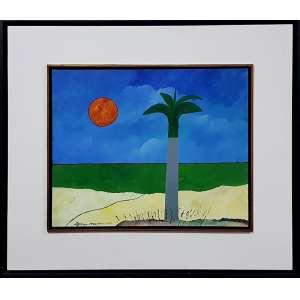 ALDEMIR MARTINS, Paisagem - Acrílica sobre tela - 40x50 cm ACIE 2002 (Com documento de autenticidade)