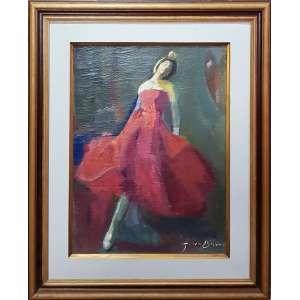 GINO BRUNO, Bailarina - Óleo sobre tela - 60x50 cm - ACID