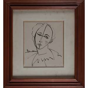 APRÍGIO, Figura - Nanquim - 25x22 cm - ACID 1986 ( Com selo da Galeria Terma Arte Contemporânea )