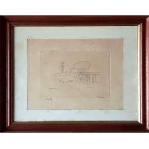TARSILA DO AMARAL, Paisagem - Gravura metal 15/35 - 28x34 cm - Assinado no canto esquerdo