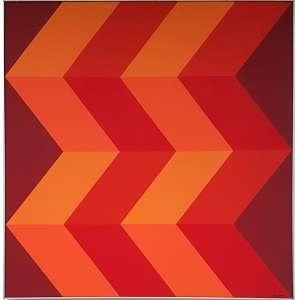LUIZ SACILLOTO, Composição - Acrílica sobre tela - 70x70 cm - Assinado no canto direito e no verso 1986