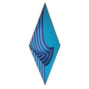 YULI GESZTI - Losango - Acrílica sobre tela - 150x59 cm - Assinado no VERSO