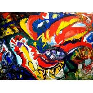 JORGE GUINLE, Composição - Óleo sobre tela - 130x170 cm - Assinado no verso