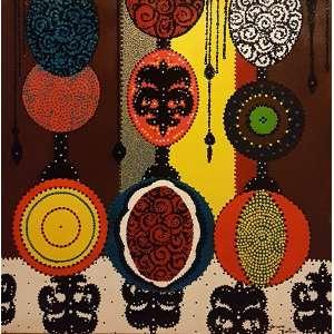 GLORIANE MARTINS, Camará lia, A amante das artes - Acrílica sobre tela - 80x80 cm - ACID e VERSO