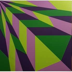 CARLOS GOMES, Composição - Acrilica sobre tela - 100x100 cm - Assinado no VERSO