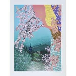 KAZUO WAKABAYASHI, Primavera - Gravura numerada - 80 x 60 CM - Assinatura canto inferior direito