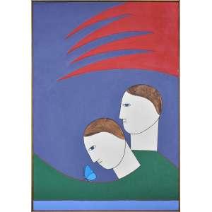 ANTONIO MAIA - Nova vida - Acrílica sobre tela - 73 x 50 CM - Assinatura canto inferir direito